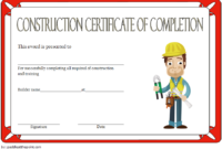 Construction Vesting Certificate Template Free Editable 1