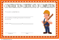 Construction Vesting Certificate Template Free Editable 2