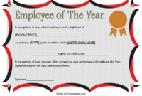 Employee of The Year Certificate Format Free Editable 2
