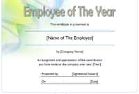 Employee of The Year Certificate Free Download 1