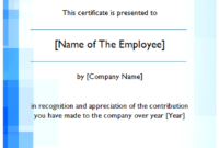 Employee of The Year Certificate Free Download 2