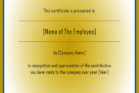 Employee of The Year Certificate Free Download 3