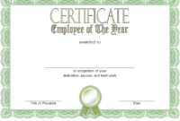 Employee of The Year Certificate Word Template FREE 3