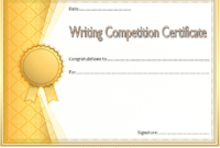 Essay Writing Competition Certificate Template FREE Editable 1