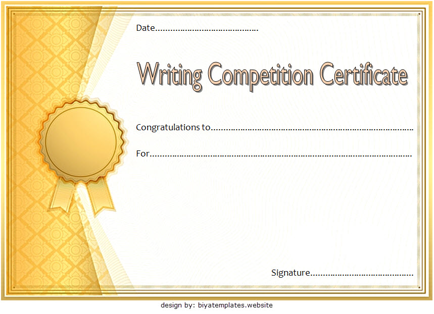 writing certificate template, writing competition certificate template, creative writing certificate template, essay writing competition certificate, writing contest certificate template