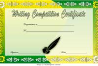 Essay Writing Competition Certificate Template FREE Editable 3