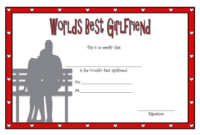 FREE Best Girlfriend Award Certificate Template 2