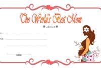 FREE Best Mom Certificate Printable 1