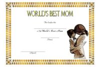 FREE Best Mom Certificate Printable 2