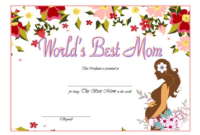 FREE Best Mother Certificate Template 1