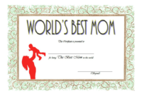 FREE Best Mother Certificate Template 2