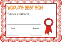 FREE Best Son Ever Certificate Template 1