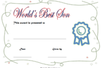 FREE Best Son Ever Certificate Template 2