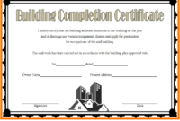 FREE Building Certificate of Completion Template 1