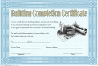 FREE Building Certificate of Completion Template 3