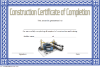 FREE Construction Training Certificate Template 1