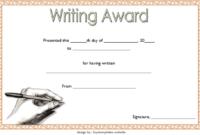 FREE Creative Writing Award Certificate Template 1