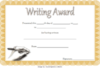 FREE Creative Writing Award Certificate Template 2