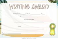 FREE Creative Writing Award Certificate Template 3