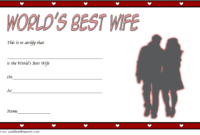 FREE Printable Best Wife in The World Certificate 1