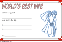 FREE Printable Best Wife in The World Certificate 2