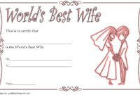 FREE Printable Best Wife in The World Certificate 3