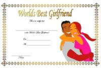 FREE Worlds Best Girlfriend Certificate Template