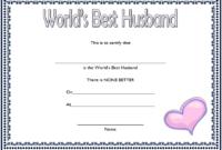 FREE World's Best Husband Certificate Template 1