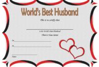 FREE World's Best Husband Certificate Template 2