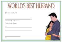 FREE World's Best Husband Certificate Template 3