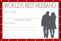 FREE World's Best Husband Certificate Template 4