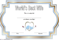 FREE World's Best Wife Certificate Template 1