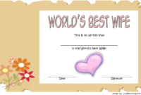 FREE World's Best Wife Certificate Template 2