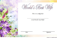 FREE World's Best Wife Certificate Template 3