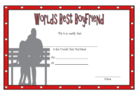 Free Best Boyfriend Award Certificate Template Printable 1