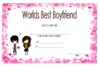Free Best Boyfriend Award Certificate Template Printable 3