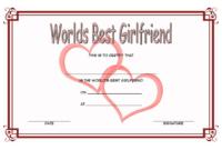 Free Best Girlfriend Certificate Printable 1