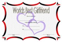 Free Best Girlfriend Certificate Printable 2