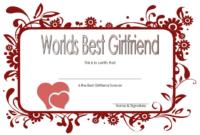 Free Best Girlfriend Certificate Printable 3