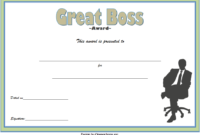 National Boss's Day Certificate Free Printable 1