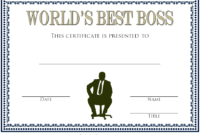 World's Best Boss Certificate Template Free 2