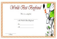 World's Best Boyfriend Certificate Template Free 1