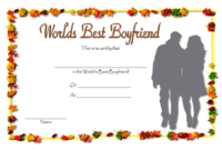 World's Best Boyfriend Certificate Template Free 2