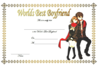 World's Best Boyfriend Certificate Template Free 3