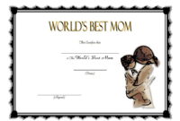 World's Best Mom Certificate Template FREE Printable 1