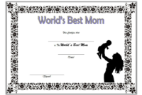 World's Best Mom Certificate Template FREE Printable 2