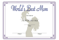 World's Best Mom Certificate Template FREE Printable 3