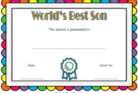 World's Best Son Certificate Template Free 1