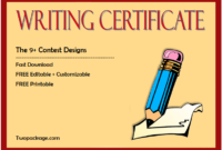 writing certificate template, writing competition certificate template, creative writing certificate template, essay writing competition certificate, writing contest certificate template