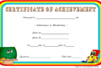 Best Handwriting Certificate of Achievement Template Free 3